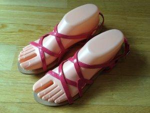 ZARA TRF, NEUE Lack-Sandaletten, pink, GR. 38
