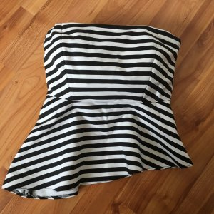 Zara Trafaluc Haut bandeau noir-blanc
