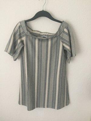Zara Trf off Shoulder Kleid gestreift