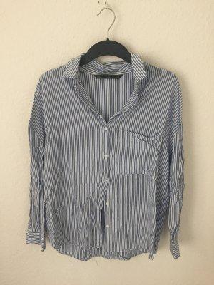 Zara Trf oversized Hemd gestreift