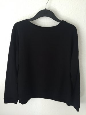 Zara Trf oversized Sweatshirt Schwarz