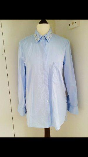 Zara TRF Perlenbluse Neu mit Etikett Sale Ausverkauft Blogger Perlen