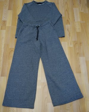 ZARA trf Set Sweater & Hose grau Gr. S (36/38) flauschig warm Street Wear Room Wear