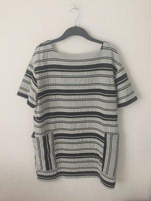 Zara Trf Shirt Kleid Schwarz Weiß gemustert