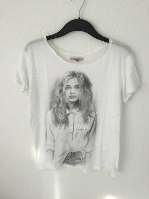 Zara Trf Shirt mit Foto Print
