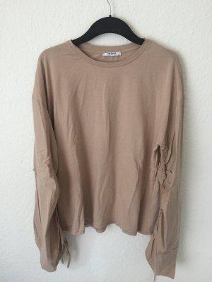 Zara Trf Shirt mit weiten Ärmeln altrosa