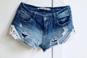 Zara TRF Shorts Spitze Jeans Jeansshorts 36 S