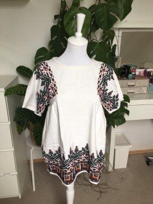 Zara Trf sommerliches Baumwolloberteil im Ethno Style S/36