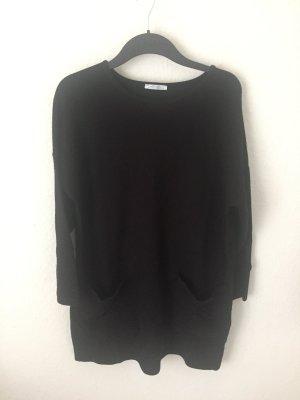 Zara Trf Sweat Kleid mit Taschen Schwarz