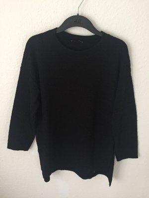 Zara Trf Sweater strukturiert schwarz