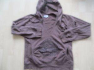 Zara Sweat à capuche brun-brun foncé