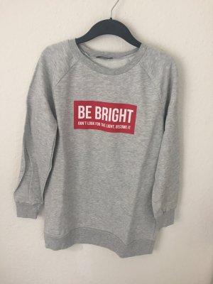 Zara Trf Sweatshirt mit Print Hellgrau