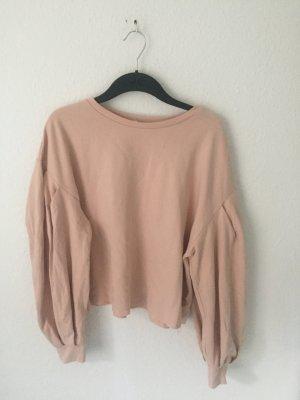 Zara Trf Sweatshirt mit Puffärmeln Rosa