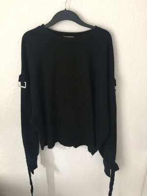Zara Trf Sweatshirt mit Schnallen Schwarz