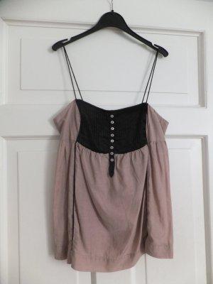 Zara TRF Top M 38 40 Lingerie-Style Camisole Satin Altrosa