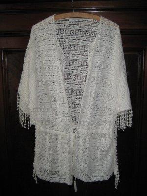 Zara Trf Trafaluc Kimono Cardigan Hippie Boho Festival Indie Ethno Crochet M