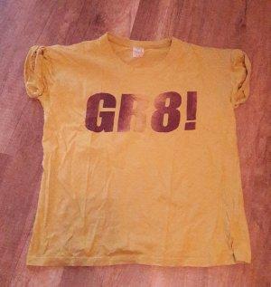 Zara Trf Trafaluc Shirt T-Shirt Print Statement Rollup M