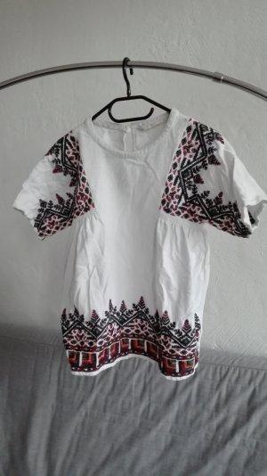 Zara Blusa ancha multicolor Algodón