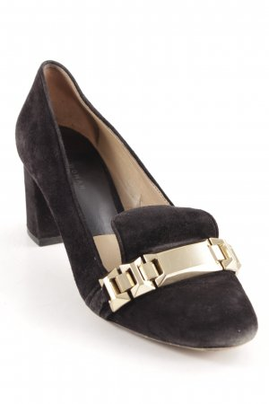 Zara Zapatos Informales negro-color oro estilo «business»