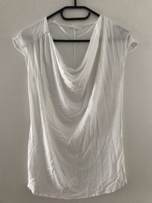 Zara Cowl-Neck Shirt white lyocell
