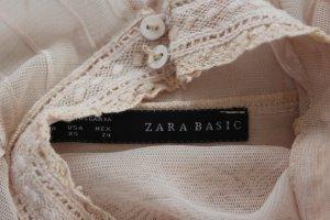 Zara Blouse en dentelle beige