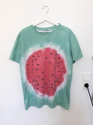 Zara Tshirt mit Melonen Print Gr. L bzw. Oversize