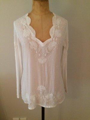 Zara Tunique-blouse blanc coton