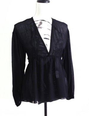 ZARA Tunika Bluse Hemd Top Boohoo Style transparent black – XS/S