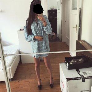 Zara Tunika Bluse Lace Up Schnürung Maritim