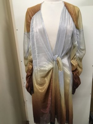 Zara Tunic Dress gold-colored-bronze-colored lurex
