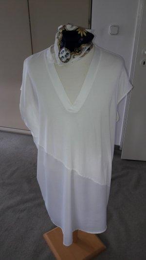 Zara Tunic white-natural white mixture fibre