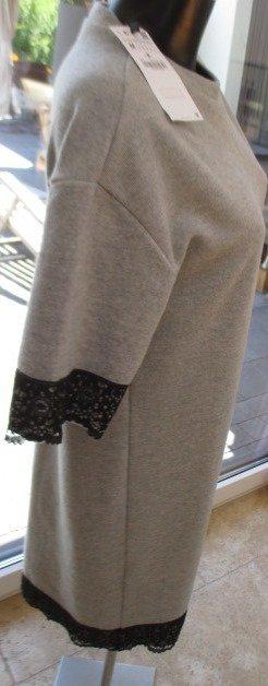 Zara Trafaluc Vestido tipo túnica negro-gris