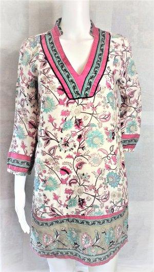 Zara Robe chemise multicolore coton