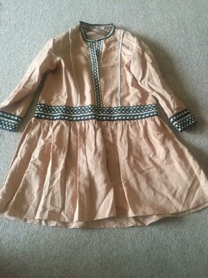 Zara Tunika Minikleid mit Bändern Leinen Gr.M neu mit Etikett