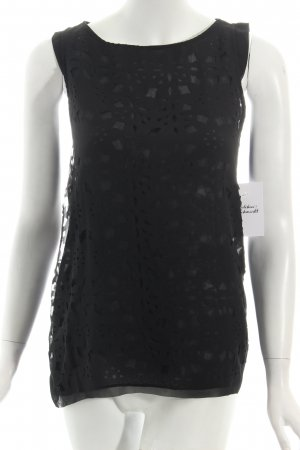 Zara Tunika schwarz Transparenz-Optik