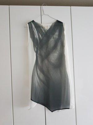 Zara Tunika T-Shirt grau weiss