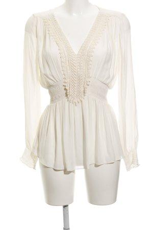 Zara Blusa de túnica crema look Boho