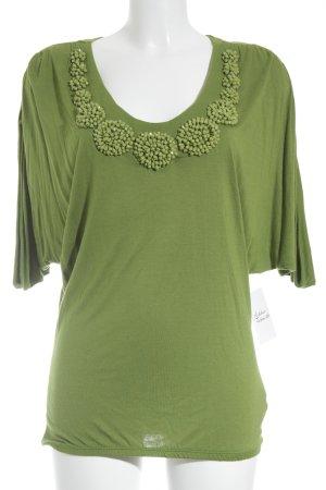 Zara Tunikabluse grasgrün minimalistischer Stil