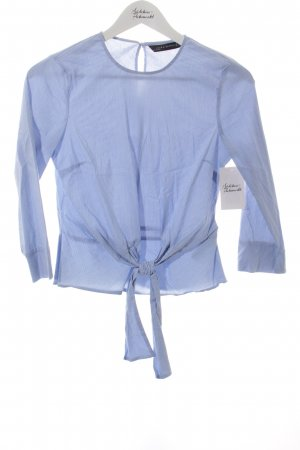 Zara Tunic Blouse light blue-white striped pattern navy look