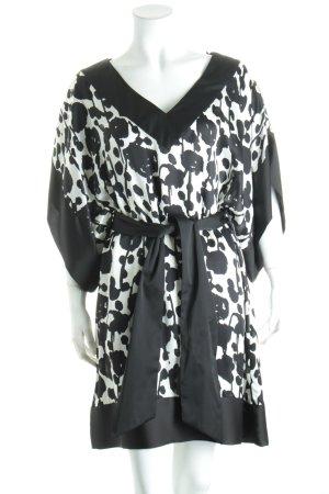 Zara Tunikabluse weiß-schwarz abstraktes Muster klassischer Stil