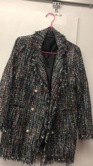 Zara Woman Tweed blazer veelkleurig