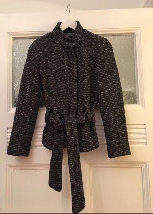 Zara Tweed Jacke mit Gürtel