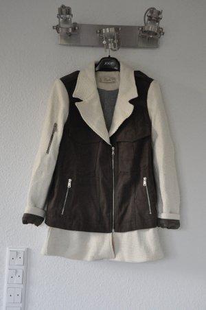 ZARA Tweed Khaki Blazer, beige, olive, Blogger, Biker, Jacke mit Zippern