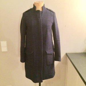 Zara Redingote bleu laine