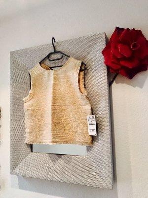 ZARA Tweed Oberteil / neu mit Etikett / M