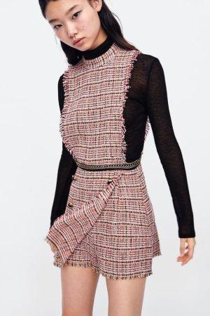 Zara Tweed overall jumpsuit mit Ketten blogger Rosa