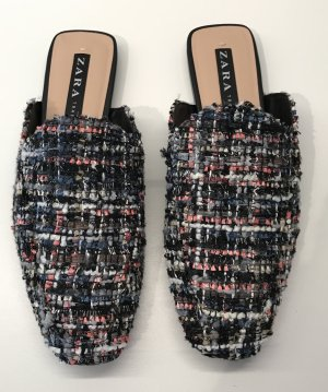 ZARA Tweed Slippers Mules - Size 37 - NEW