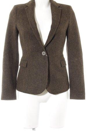 Zara Tweedblazer braun Business-Look