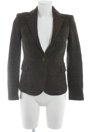 Zara Blazer en tweed gris brun-bleu acier motif à carreaux style rétro