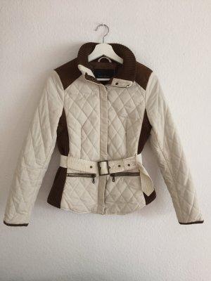 Zara Veste matelassée beige clair-brun rouge polyester